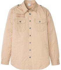 camicia a maniche lunghe con spalline (marrone) - john baner jeanswear