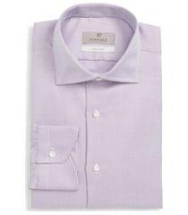 men's big & tall canali regular fit solid dress shirt, size 18 - red