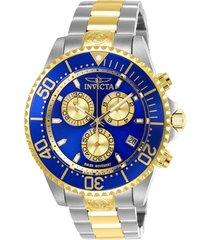 reloj invicta acero dorado modelo 268eh para hombres, colección pro diver