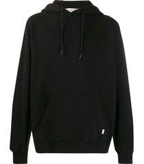 golden goose cotton pull-on hoodie - black