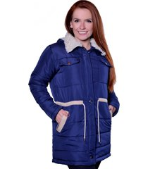 casaco sobretudo carbella carbella frio extremo azul marinho