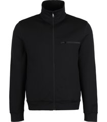 prada techno fabric full-zip sweatshirt