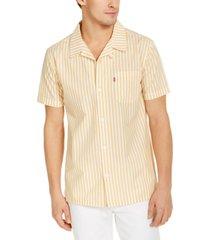 levi's men's striped camp shirt
