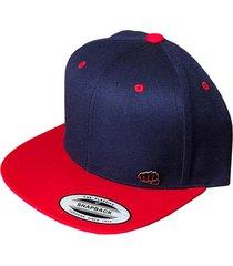 gorra fist con pin plana azul con visera roja gfistcap24