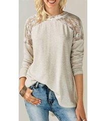zanzea blusa de encaje con lazo diseño blusa