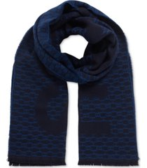 boss men's axel italian-made monogram scarf