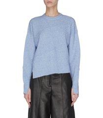 'lofty' alpaca basket weave slit sleeve sweater