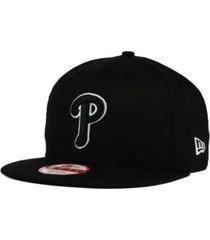 new era philadelphia phillies black white 9fifty snapback cap