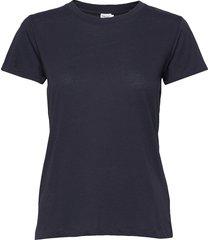 cotton tee t-shirts & tops short-sleeved blå filippa k