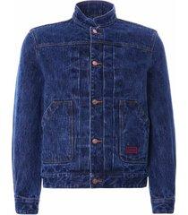 c17 jeans mandarin collar kuroki japanese selvedge denim jacket | stone wash | cdsa2008031160