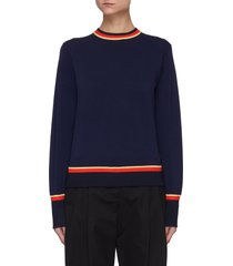 colourblock stripe detail sweater