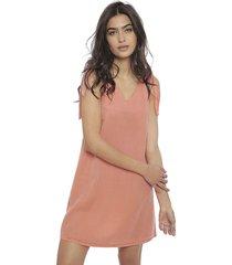 vestido vero moda rosa - calce holgado