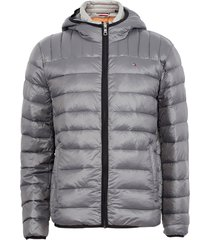 parka tommy hilfiger gris - calce regular