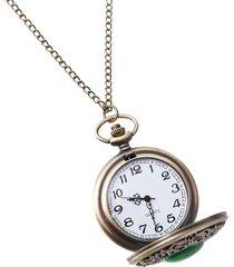orologio da taschino con grande numero inciso modello emerald green opalino vintage per uomo donna regalo