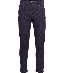 chino pants with elastic waist kostymbyxor formella byxor blå lindbergh