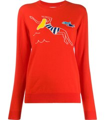 chinti and parker swimmer sweater - red