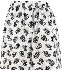 msgm printed cotton shorts