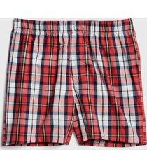 boxer cuadros rojo gap