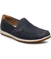 reciprico shoes business loafers blå ecco