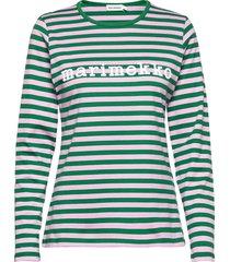 logo mari shirt t-shirts & tops long-sleeved blauw marimekko