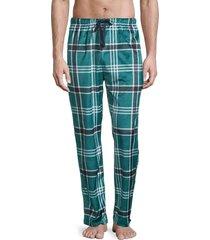 original penguin men's printed fleece pajama pants - storm - size xl