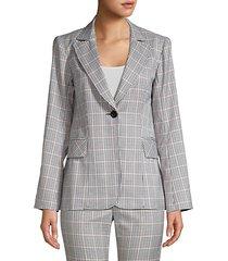 groovy glen plaid single-breasted jacket