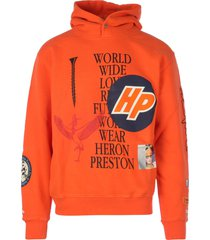 heron preston hoodie plain collage