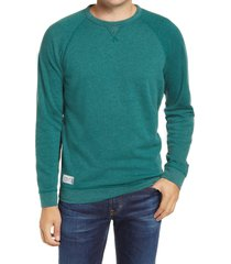men's johnnie-o pamlico crewneck sweatshirt, size medium - green
