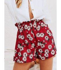 shorts casuales con estampado floral