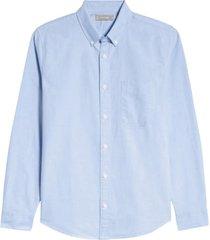 men's everlane uniform the japanese slim fit oxford shirt, size large - blue