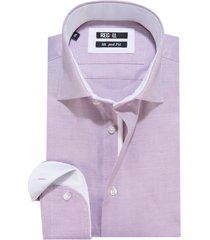recall shaped fit overhemd met lange mouwen paars