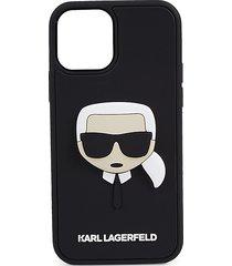 karl lagerfeld logo iphone 12 & iphone 12 pro case