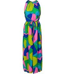 a.n.g.e.l.o. vintage cult beaded geometric printed dress - multicolour