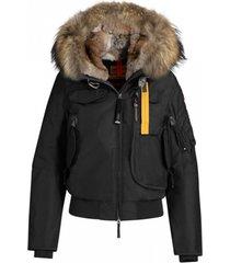 gobi short puffer jacket with fur