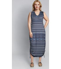 lane bryant women's printed side-tie midi dress 14/16 napa diamond stripe