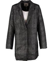 garcia lange gevoerde blazer jas zwart zilver
