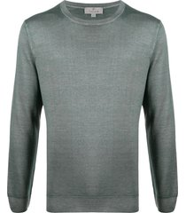 canali slim-fit crew-neck pullover - grey