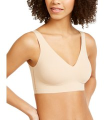 calvin klein women's invisibles comfort plunge push-up bralette qf5785