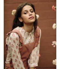 camicetta svolazzante con stampa - collezione donna  -