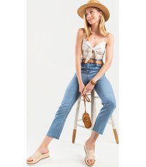 women's harper heritage frayed vintage straight jeans in denim by francesca's - size: 30