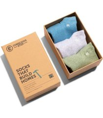 women's box of 3 ankle socks that build homes