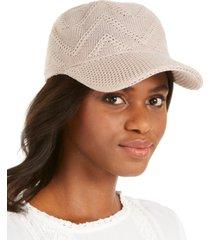 inc packable crochet baseball cap, created for macy's