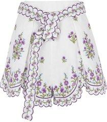 zimmermann floral detail skirt
