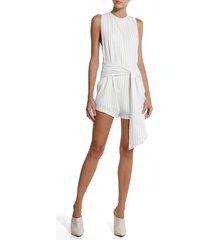 macaquinho rosa chá liberty beachwear linho off white feminino (off white, g)