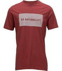 babu print tee 3345 t-shirts short-sleeved röd nn07