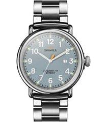 men's shinola the runwell bracelet watch, 47mm