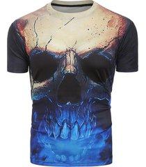 3d skull print short sleeves tee