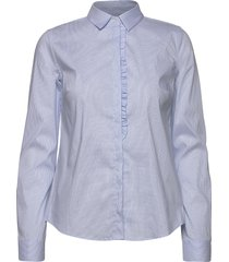 tilda frill check shirt overhemd met lange mouwen blauw mos mosh