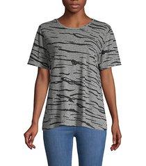 tiger-stripe t-shirt