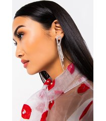 akira keep it classy rhinestone dangle earring